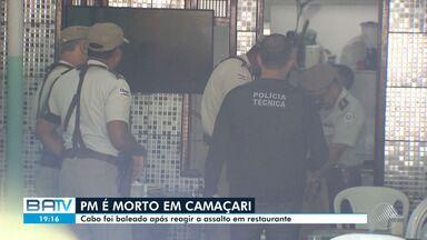 PM é morto ao reagir a um assalto em Camaçari, Região Metropolitana de Salvador - O caso aconteceu na tarde desta segunda-feira (4).
