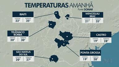 Terça-feira (05) será de tempo abafado na região dos Campos Gerais - Confira a previsão do tempo.
