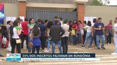 Evasão: Mais de 25% dos inscritos no Enem em Rondônia não fizeram a prova - A primeira fase do exame aconteceu no último domingo (3).