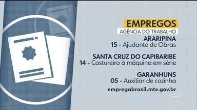 Confira vagas de emprego disponíveis na Agência do Trabalho - Há oportunidade no Recife e também no interior.