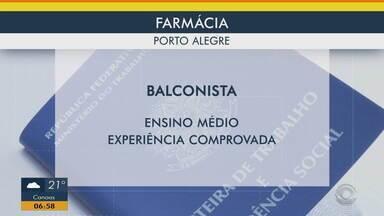 Confira vaga de emprego em farmácia de Porto Alegre - Assista ao vídeo.