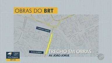 Obras de implantação do corredor BRT em Campinas começam na Avenida São Jorge - Corredores de ônibus vão ser interditados a partir desta terça-feira (5). Previsão é que as obras durem seis meses.