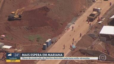 Obras de construção de distritos destruídos pela lama da Samarco estão atrasadas - Tragédia completa 4 anos nesta terça-feira (5).