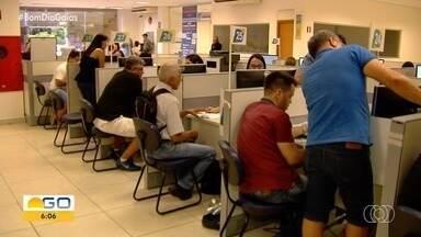 Semana de Conciliação dá descontos na renegociação de dívidas, em Goiânia - Na capital, teve gente que ficou 7 horas na fila.