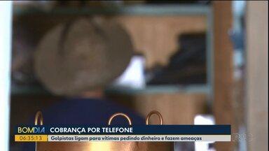Moradores são alvo de golpe por telefone em Turvo - Golpistas fazem cobranças e ameaças.