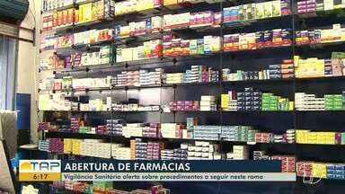 Farmácias devem seguir procedimentos para funcionar sem ter problemas com a Vigilância - Funcionamento de estabelecimentos com irregularidades já fez com que sete fossem interditadas em Santarém.
