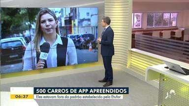 Quase 500 carros de aplicativo foram apreendidos em Fortaleza em 4 meses - Saiba mais em g1.com.br/ce