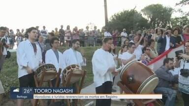 Cerimônia do Tooro Nagashi é realizada em Registro - Moradores e turistas reverenciaram os mortos