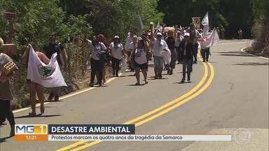 Mariana tem atos no dia em que rompimento de barragem da Samarco completa 4 anos - Desastre matou 19 pessoas.