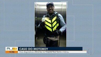 Motoboy que morreu em Nova Friburgo teve dois diagnósticos diferentes - Ele foi atendido no Hospital Raul Sertã.