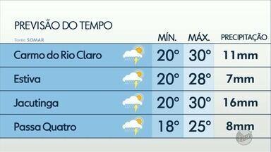 Confira a previsão do tempo para esta quarta-feira (6) no Sul de Minas - Confira a previsão do tempo para esta quarta-feira (6) no Sul de Minas