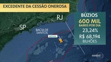 Cessão onerosa: governo arrecada R$ 69,96 bilhões com megaleilão do pré-sal - Em leilão sem disputa, apenas 2 dos 4 blocos foram arrematados. Petrobras levou o maior bloco em consórcio formado com empresas chinesas e arrematou outro sozinha.