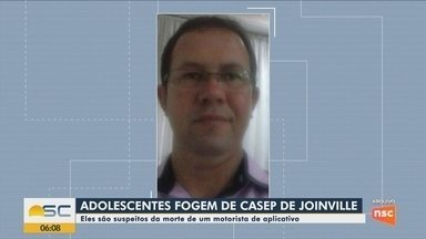 Adolescentes suspeitos da morte de motorista de aplicativo fogem do Casep de Joinville - Adolescentes suspeitos da morte de motorista de aplicativo fogem do Casep de Joinville