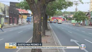 Motoristas passam mal e causam acidentes - Depois que motoristas passaram mal um micro-ônibus bateu numa árvore nesta quarta-feira e um carro quase atropelou uma mulher em outubro.