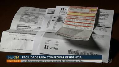 Lei garante a consumidores direito de incluir nome de cônjuge nas contas - Empresa que não acatar obrigação deve ser denunciada no Procon.