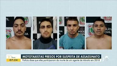Mototaxistas são presos suspeitos de matar agente de trânsito - Saiba mais em g1.com.br/ce