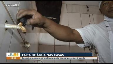 Pesquisa da UFPA aponta os efeitos da falta de água nas casas de servidores - Pesquisa da UFPA aponta os efeitos da falta de água nas casas de servidores