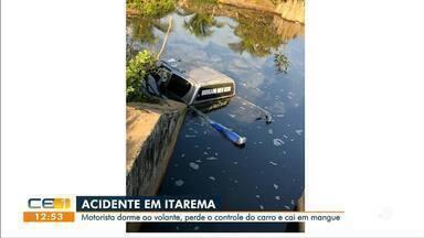 Motorista dorme ao volante, perde o controle do carro e morre em Itarema - Saiba mais no g1.com.br/ce
