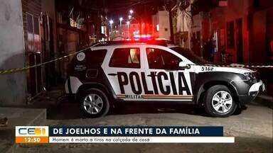 Homem é morto a tiros na calçada de casa em Fortaleza - Saiba mais no g1.com.br/ce
