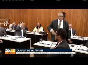 Projeto de instalação de aparelhos sonoros em ônibus é rejeitado em Governador Valadares - Dispositivos iriam indicar pontos de paradas dos coletivos.