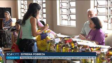 Pesquisa do IBGE mostra que no Paraná quase 306 mil pessoas vivem com menos de R$ 145 - Cresceu o número de pessoas vivem em situação de pobreza no estado.