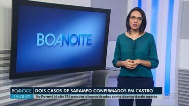 Confirmados dois casos de sarampo em Castro - No Paraná já são 316 casos da doença desde agosto.
