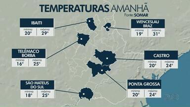 Temperaturas ficam amenas na região dos Campos Gerais nesta sexta-feira (07) - Confira a previsão do tempo.