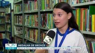 Aluna de Angra dos Reis é destaque na Olimpíada de Língua Portuguesa - Laura Soares representou o Sul do Estado e levou medalha de bronze na competição.