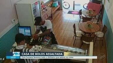 Ladrões roubam loja de bolos em Ribeirão Preto, SP - Dupla levou todo o dinheiro que estava no caixa.