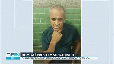 Homem é preso em Sobradinho com várias armas em casa - De acordo com a polícia ele ameaçava a ex-companheira e a filha dela.
