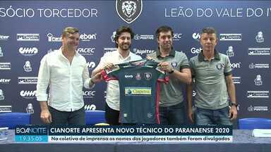 Novo técnico do Cianorte é apresentado a torcida - Burse comandava o Vitória da Bahia e agora prepara o Cianorte pro Paranaense 2020.