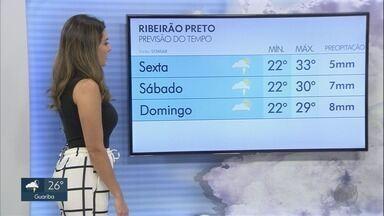 Veja a previsão do tempo para esta sexta-feira (8) na região de Ribeirão Preto - A chuva deve voltar a aparecer nas cidades da região.