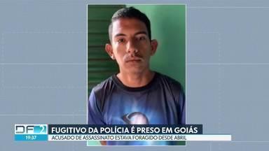 Fugitivo da polícia é preso em Goiás - Crime foi em abril, suspeito confessou ter matado jovem em bar por engano.