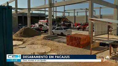 Dois mortos e um ferido em desabamento em Pacajus - Confira mais notícias em g1.globo.com/ce