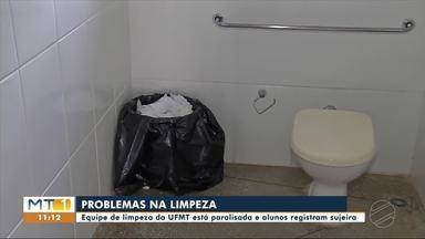 Equipe de limpeza da UFMT está paralisada - Equipe de limpeza da UFMT está paralisada