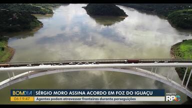Acordo assinado em Foz do Iguaçu permite perseguição além da fronteira - Agentes de forças de segurança poderão avançar 1 quilômetro além da fronteira em situações como estas.