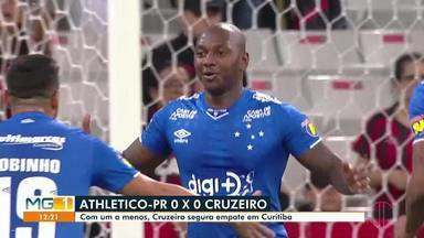 Confira os destaques do esporte desta quinta-feira (08) - Cruzeiro e Athletico-PR empataram em Curitiba.
