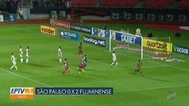 São Paulo perde em casa e sai do G-4 do Brasileirão - Tricolor perdeu por 2 a 0 para o Fluminense no Morumbi.
