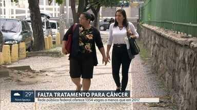 Hospitais federais do RJ têm menos 1.354 vagas pra tratamento de câncer no estado - Pacientes também enfrentam dificuldades na prevenção e no acompanhamento da doença: em 2019, caiu o número de mamógrafos em funcionamento na rede do SUS.
