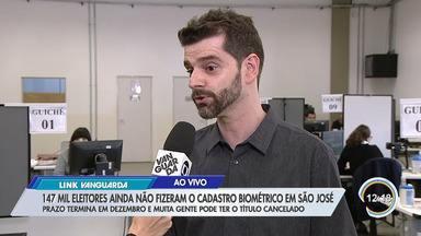 Quase 600 mil eleitores da região não fizeram cadastramento biómetrico - No sábado tem mutirão em São José.