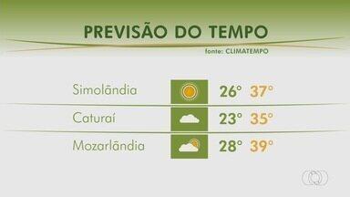 Veja como fica o tempo em Caturaí e Mozarlândia - Confira a previsão do tempo em Goiás.