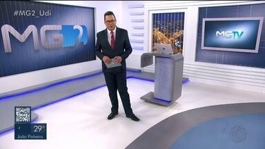 MG2 – Edição de sexta-feira, 08/11/2019 - Confira nesta edição que projetos de créditos suplementares são encaminhados para comissões da Câmara de Uberlândia. Cidade recebe encontro de afiliadas da TV Globo da região sudeste. Praia Clube vence o Minas e conquista o sétimo título do Campeonato Mineiro de Vôlei.
