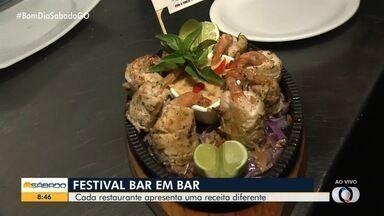 Petisco 'Casadinho Aquariana' está entre os petiscos do festival 'Bar em Bar' em Goiânia - Goiânia conta com 31 restaurantes participantes. Já em Pirenópolis são sete bares. Cada estabelecimento elabora um prato exclusivo para o festival.