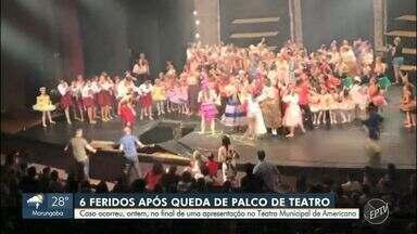 Seis pessoas ficam feridas após parte do palco do Teatro Municipal de Americana ceder - Caso ocorreu na noite da última sexta-feira (8), durante uma apresentação.