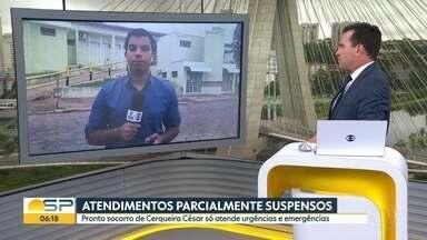 Santa Casa de Cerqueira César está com os atendimentos parcialmente suspensos - Pronto Socorro só atende urgências e emergências. Atraso dos repasses da prefeitura seria o motivo.