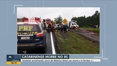 Catarinense morre em acidente no Rio Grande do Sul - Catarinense morre em acidente no Rio Grande do Sul