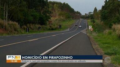 Polícia Civil investiga assassinato de homem em Pirapozinho - Investigações já apontam um suspeito do crime.