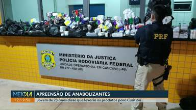 Anabolizantes são apreendidos em rodovias de Cascavel - Na BR-467, um homem de 23 anos foi preso. Já na BR-277, o motorista fugiu e abandonou os anabolizantes dentro do carro.