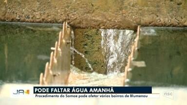 Manutenção na ETA II pode comprometer o abastecimento de água em vários bairros - Manutenção na ETA II pode comprometer o abastecimento de água em vários bairros de Blumenau