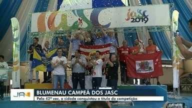 Blumenau é campeã dos JASC 2019 - Blumenau é campeã dos JASC 2019